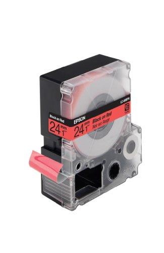 LC-6RBP9 - Pastel Black on Red 24mm Tape