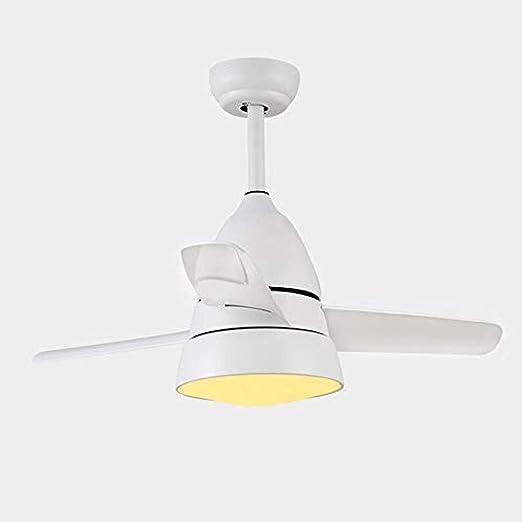 Ventilador de techo Luz pequeño ventilador de techo con luz Luz ...