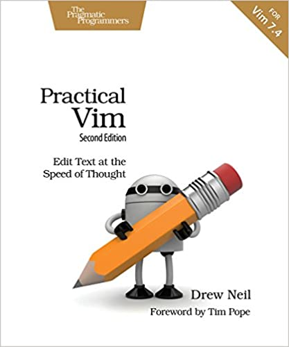 Practical Vim 2ed: Edit Text at the speed of thought book cover