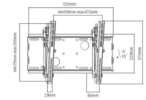 """Black Adjustable Tilt/Tilting Wall Mount Bracket for Samsung SyncMaster 320TSn 32"""" inch LCD Monitor HDTV TV/Television"""