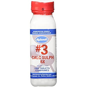 Hyland's Cell Salts #3 Calcarea Sulphurica 6X Tablets, Natural Homeopathic Relief of Colds, Sore Throat, Acne, 1000 Count