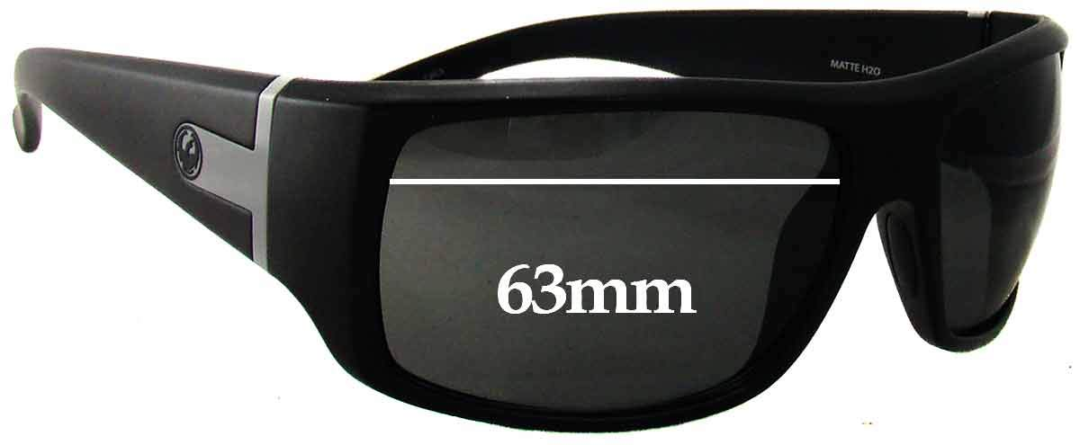 SFX Replacement Sunglass Lenses fits Dragon Vantage H2O Floatable 63mm Wide