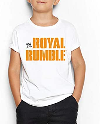 WWE Wrestling royal rumble Round Neck T-Shirt For Kids 13-14 Years