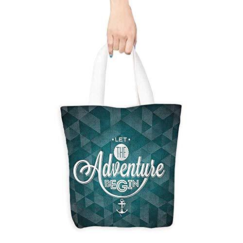(Tote bag,Adventure Inspiring Abstract,Fits in Pocket Waterproof & Lightweight,16.5