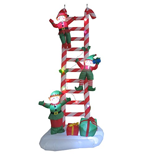 Outdoor Lighted Christmas Elves in Florida - 2