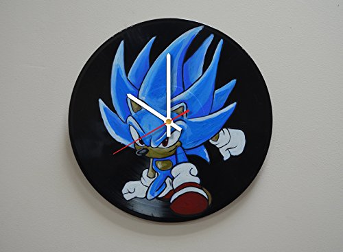 Party Costume And Display Seattle (Handmade Hedgehog Design HANDPAINTED Vinyl Record Wall Clock - Get Unique Kids Room Wall Decor - Gift Ideas For Boys and Girls - Unique Video Game Fan Art)