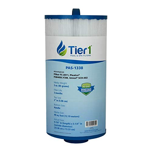 Tier1 Replacement for Jacuzzi 6540-723, Pleatco PJW40SC-F2M, Filbur FC-2811, Unicel 5CH-402 Spa Filter Cartridge