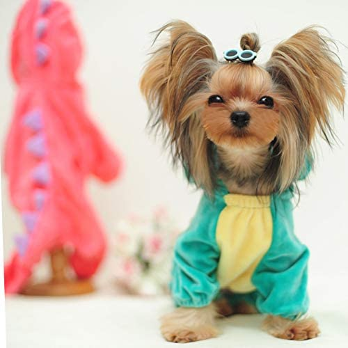 Dog Costume Dinosaur Spikes Hoodie in Red and Pink