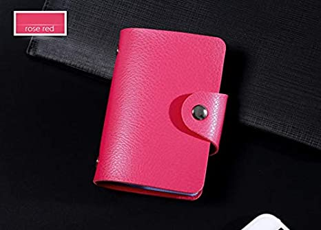 e731651df76 Image Unavailable. Image not available for. Color  Fashion PU Leather  Function 24 Bits Card Case Business Card Holder Credit Passport ...