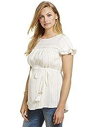 Jessica Simpson Lurex Stitching Maternity Top