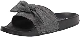 FUNKYMONKEY Women's Slides Sandals Bowknot Beach Casual Comfort Slippers
