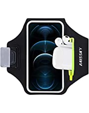 Cell Phone Armband Water Resistant Running Armband for iPhone 12 Mini 11 Pro X XR 8 7 6 Samsung Galaxy S10 S9 S8 S7, Running Phone Holder Sport Arm Bands for Gym Exercise Workout, Pocket for Key Card