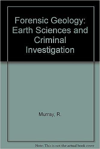 Forensic Geology Earth Sciences And Criminal Investigation Murray Raymond C Tedrow John C F 9780813507941 Amazon Com Books