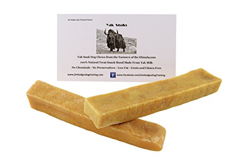 Himalayan Yak Snak Dog Chew - Medium to Large 2 Pack - Hard Cheese Snack Chews for Your Dog or Puppy Made from Yak Milk - All Natural - No Preservatives - Healthy - Limited Ingredients