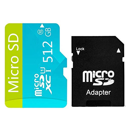 High Speed 512GB Micro SD Card Designed for Android Smartphones, Tablets Class 10 SDXC Memory Card with Adapter (512gb)