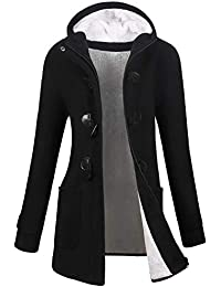 3fdbe6a35a6 Womens Winter Fashion Outdoor Warm Wool Blended Classic Pea Coat Jacket  (FBA)