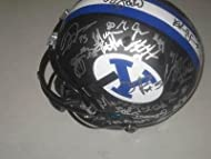 dd63e6a53 BYU Cougars Team Signed Black Out Matte Football Helmet Taysom Hill PROOF -  Autographed College Helmets
