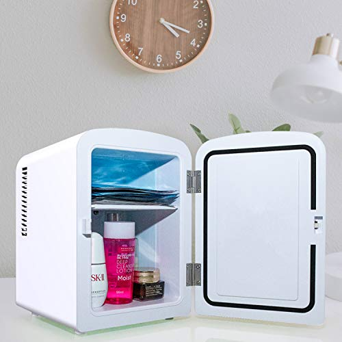 White Breast Milk AstroAI Mini Fridge 4 Liter//6 Can AC//DC Portable Thermoelectric Cooler and Warmer for Skincare Medications Foods Bedroom and Travel