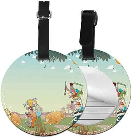 Set of 2 PU Leather Luggage Tags Sailor Moon Suitcase Labels Bag Adjustable Leather Strap Travel Accessories