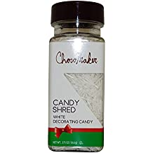 Choco Maker Chirstmas Holiday White Jimmies Edible Sprinkles Candy Shred Candy (White)