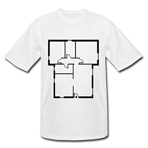 NOBiBi DIY Printing White Apartment Floorplan Men's T-Shirts