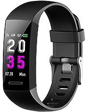 Fitness Armband mit Pulsmesser Blutdruckmessung, Fitness Tracker Schrittzähler Uhr Wasserdicht IP67 Pulsuhren Stoppuhr Sport Aktivitätstracker Schlafüberwachung Anruf SMS für Kinder Damen Männer