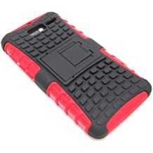 Cell-Nerds NerdShield Armor Case Cover with Built-in Kickstand for The Motorola Droid Razr M (Verizon) & Electrify M (US Cellular) Cell-Nerds Packaging (Red)