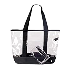 "20"" Large Clear Tote Bag with Small Pouch"