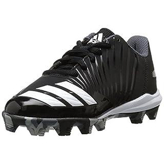 adidas Icon Md K Black/White Baseball Shoes 10, core black, White, onix, 10K M US Big Kid
