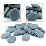 Bulk Craft River Rocks, 70 Extremely Smooth Stones
