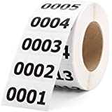 "Shiplies Consecutive Number Labels Inventory Stickers for Office Supplies, Inventory, Warehouse and Organizing (1.6""×0.8"", 1-1000)"