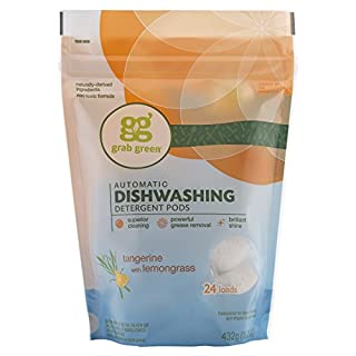 Grab Green Automatic Dishwashing Detergent Pods - Tangerine with Lemongrass