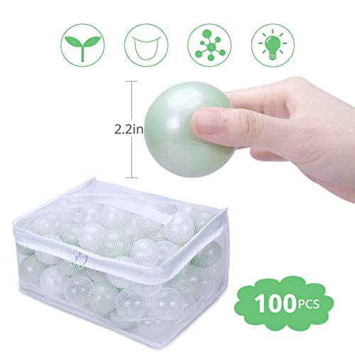 GOGOSO Ball Pit Balls BPA Free - Pack of 100 Plastic Balls Crush Proof Baby Play Crawl Ball 2.2 Inch Best for Baby Boy Birthday Party; Trampoline or Baby Dog Cat Toys