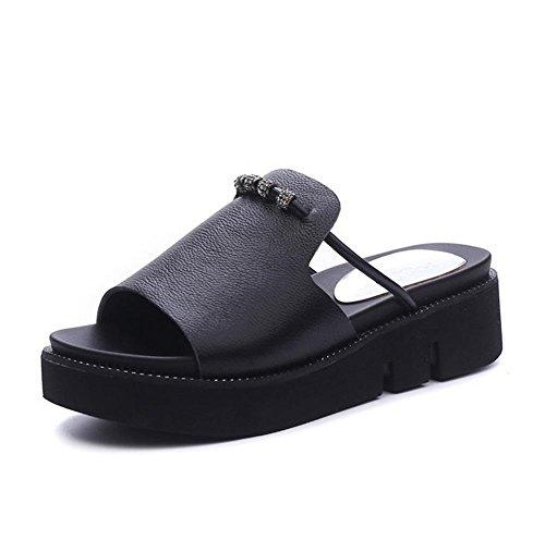Sandalias de las señoras del verano panes los deslizadores inferiores gruesos 2