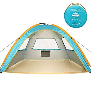 Zomake Pop Up Beach Tent 3 4 Person Portable Instant Sun