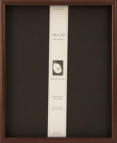 16x20 Shadow Box Wood Frame  15/16'' Deep (Cherry) by Frame USA