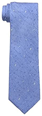 Calvin Klein Men's Estate Vine Tie, Slate Blue, One Size