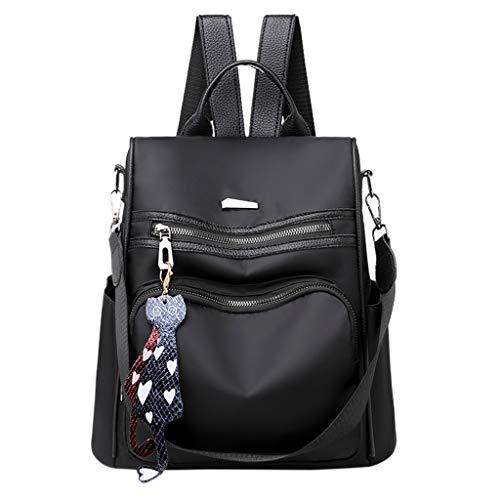 (TOPBIGGER Laptop Fashion Backpack School Casual Shoulder Bag Nylon Waterproof Bag Travel/College/Ladies)