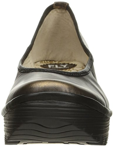 Fly London Womens Yalu Bardana Wedge Leather Shoes Bronze