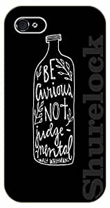 iPhone 5 / 5s Be curious, not judgemental. Walt Whitman - black plastic case / Life Quotes