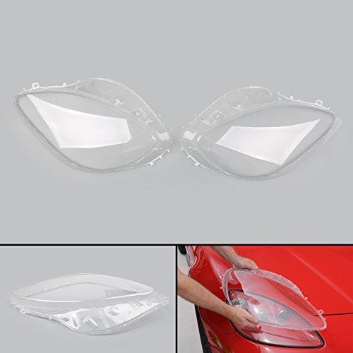 Areyourshop For 2005-2013 C6 Corvette Headlight Replacement Lens Driver Passenger L+R PAIR