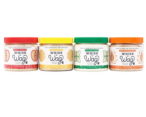 Cinnamon Flavor Small Dog Treats - Whisk & Wag Bake at Home Natural Dog Treat MixVariety Pack (Four Flavor Variety Pack)