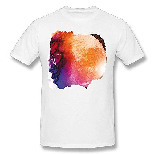 Kid Cudi Man On The Moon The End of Day Youth Men Short Sleeves Cotton T Shirt Popular Top White,White,3X (Kid Cudi Man On The Moon 3)