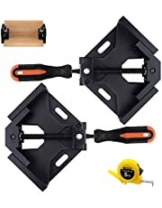 LEATBUY Angle Clamps 90 Degree Right Corner Holder Welding Clamp 2pcs, Vise Adjustable Swing Bench Tool, Perfect for Carpenter Wood-Working Engineering with a Tape Measure