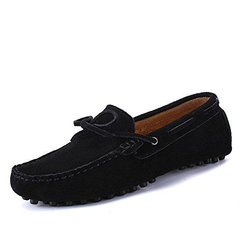 Dimensione 44 uomo Uomo Mocassini Shufang Mocassini da shoes vera leggeri da Color EU Nero in 2018 pelle Da Scarpe guida IIzTwqU