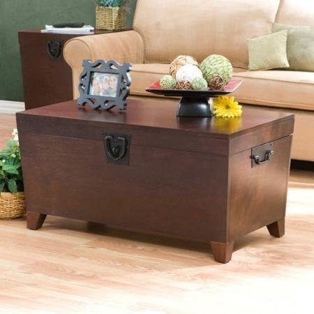 Supernon Southern Enterprises Pyramid Trunk Coffee Table - Espresso