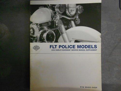 Download 2004 Harley Davidson FLT POLICE MODELS Service Repair Shop Manual Supplement NEW PDF
