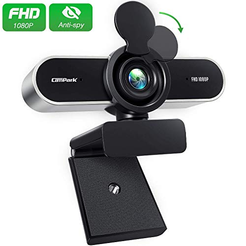 🥇 Campark Webcam PC 1080P FHD con Micrófono Estéreo
