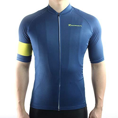 Racmmer Mens Breathable Short Sleeve Cycling Jersey Bike Shirt Cycling Clothing Navy