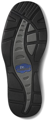 Dr. Komfort Mens Fiskare Svarta Diabetes Sandaler